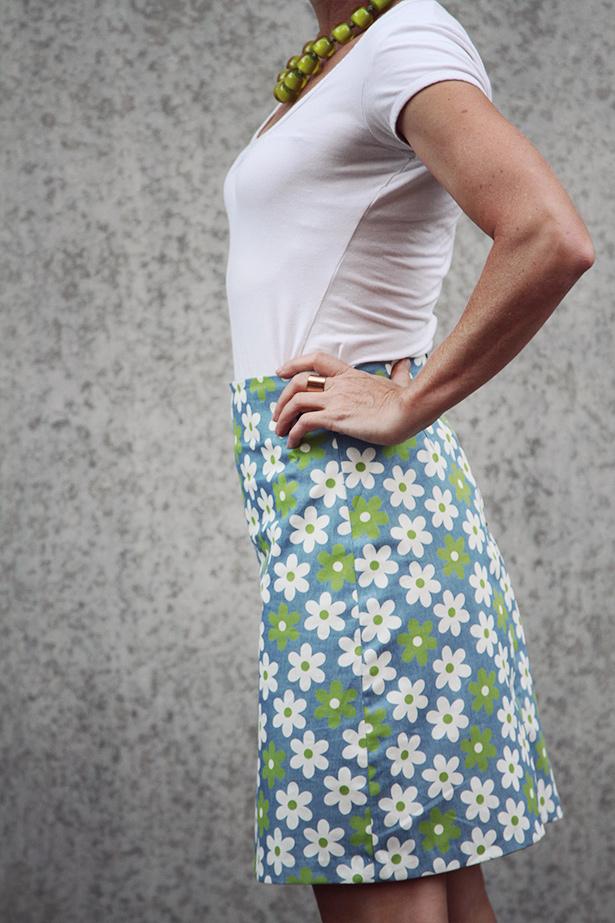Annie A Line Skirt Sewthispattern By Nine Stitches