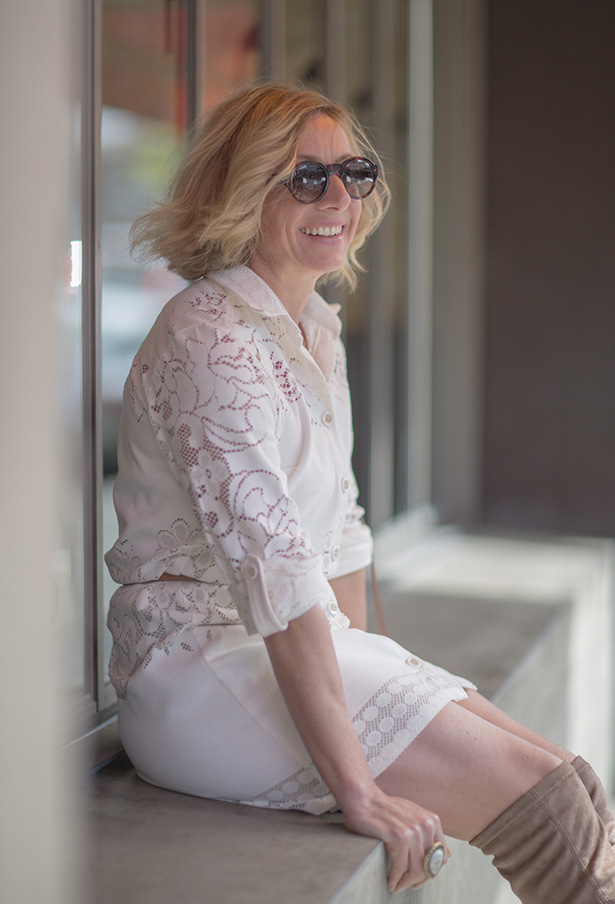 Ivory Lace Shirt Dress