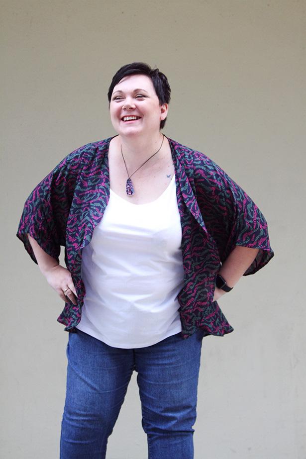 Plus size oversize pattern venus kimono